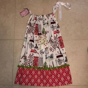 ❤️HANDMADE❤️ Paris Theme Pillowcase Dress 👗